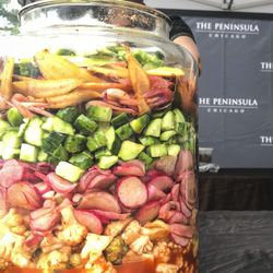 Kimchi by the Peninsula Restaurant at the Green City Chef BBQ. | Sun-Times Staff