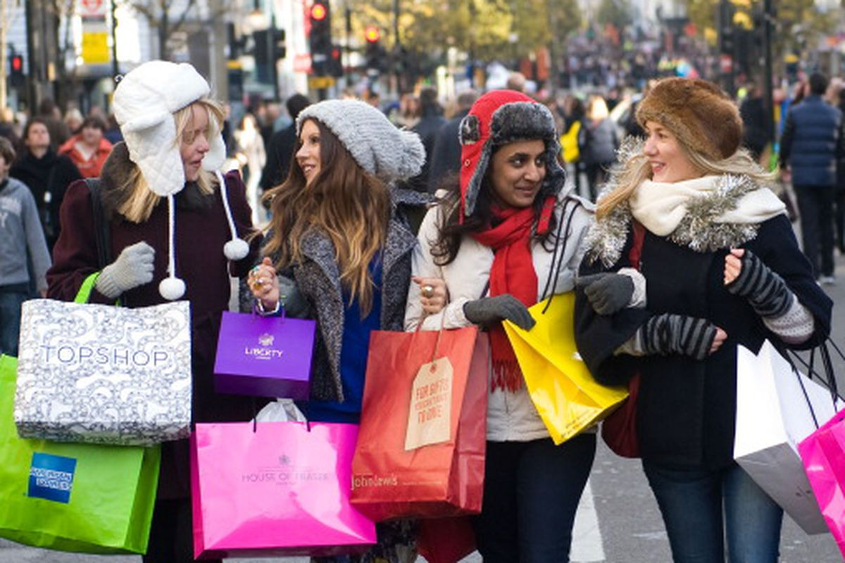 Millennials getting their shopping on. Photo by Getty Images.