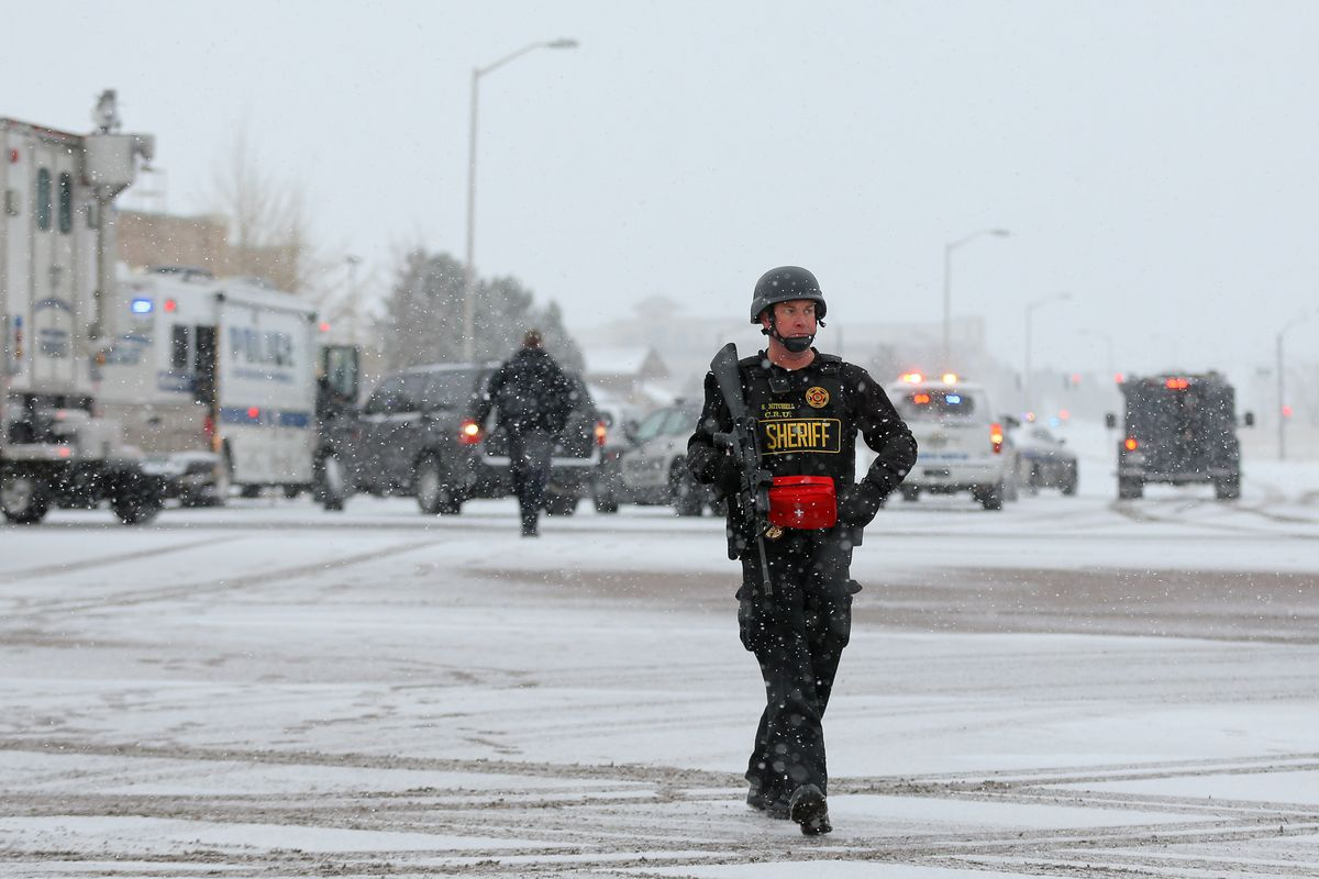 A police officer at the scene of the Planned Parenthood shooting in Colorado Springs.