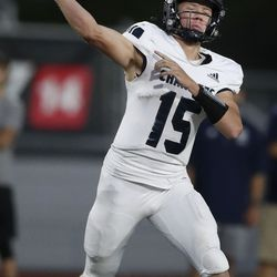 Corner Canyon and American Fork compete at American Fork High School on Friday, Sept. 17, 2021.