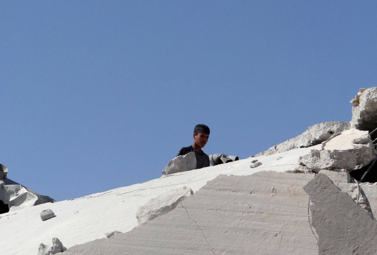 House destroyed american strikes Syria