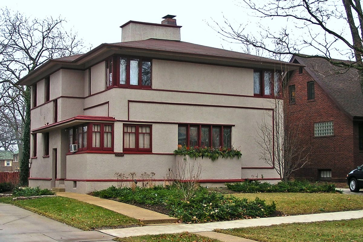frank lloyd wright system built house in beverly returns once 10541 s hoyne avenue flickr creative commons samuel a love a frank lloyd wright designed