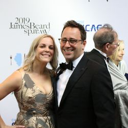 Chef Lee Wolen and his wife on the Red Carpet. | Brian Rich/Sun-Times