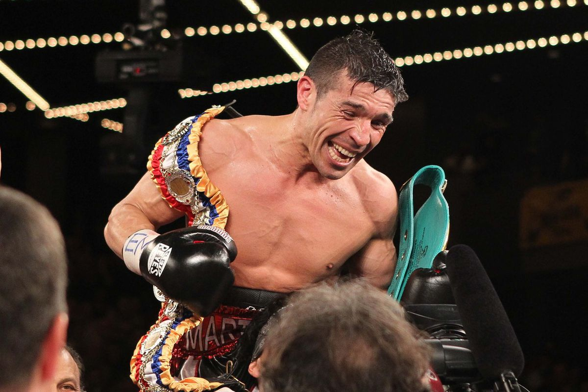 Once Sergio Martinez got on a roll, Matthew Macklin could do nothing to stop him. (Photo by Ed Mulholland-US PRESWIRE)