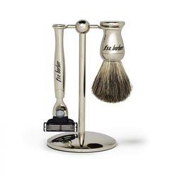 "<b>F.S.C. Barber</b> Nickel 3 Piece M3 Set with Pure Badger, <a href=""http://www.fscbarber.com/gifts-features/cool-gifts-for-dad/f-s-c-barber-nickel-3-piece-m3-set-with-pure-badger.html"">$100</a>, available at <b>F.S.C. Barber</b> in Williamsburg, 101 N."