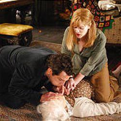 """Ben Stiller, Eileen Essel (on ground) and Drew Barrymore in """"Duplex."""""""