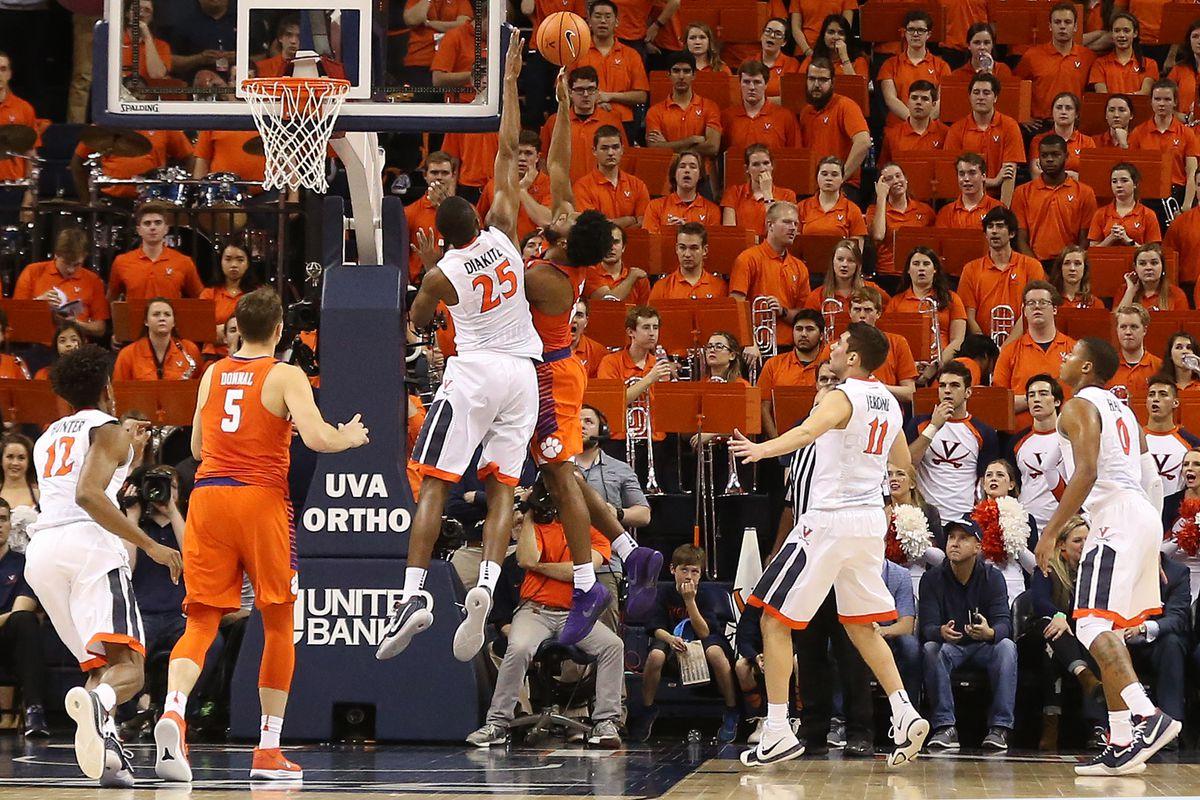 NCAA Basketball: Clemson at Virginia