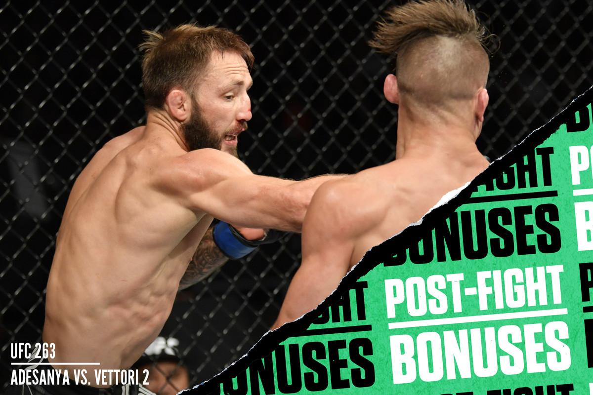 Drew Dober and Brad Riddell at UFC 263