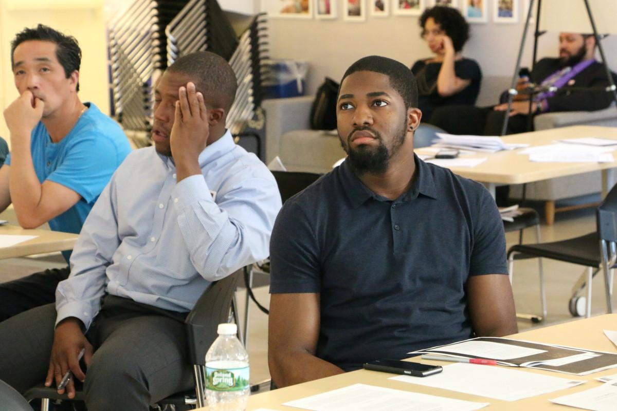 Ishmael Hall, an aspiring teacher who is part of a new program called NYC Men Teach.