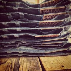 """<a href=""""http://instagram.com/normanporter"""">@normanporter</a>: Made by hand right here in Philly, men's denim by Norman Porter caters to rough-and-tumble types with an appreciation for quality and durability. Think <em>True Grit</em> meets the after-hours"""