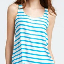 """<a href=""""http://www.anntaylor.com/ann/product/AT-Apparel/AT-Blouses-Tops/Striped-Tank/267915?colorExplode=false&skuId=10528389&catid=cata000045&productPageType=saleProducts&defaultColor=1125"""">Striped Tank</a>, $27.92 (was $78)"""