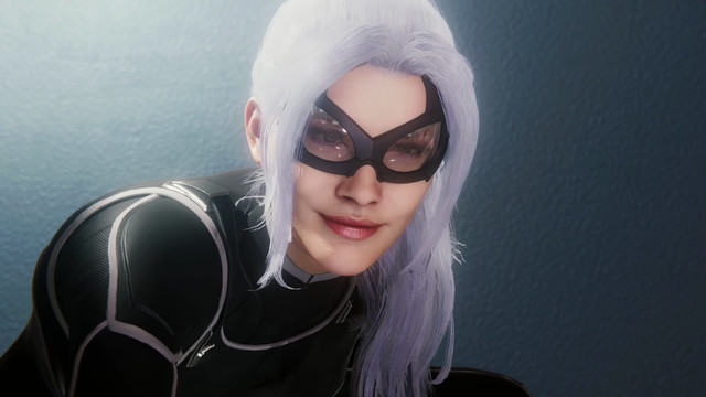 Black Cat, as shown in <em>Spider-Man</em> from Insomniac Games