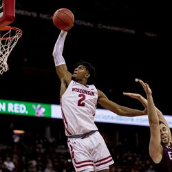 Aleem Ford with an authoritative first half dunk.