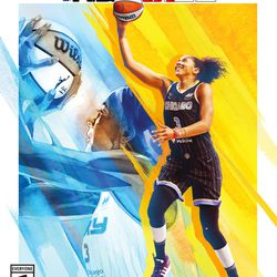 Chicago Sky forward Candace Parker, cover athlete for the WNBA 25th Anniversary Special Edition of <em>NBA 2K22</em>, is the first woman to appear on the cover of an NBA 2K game.