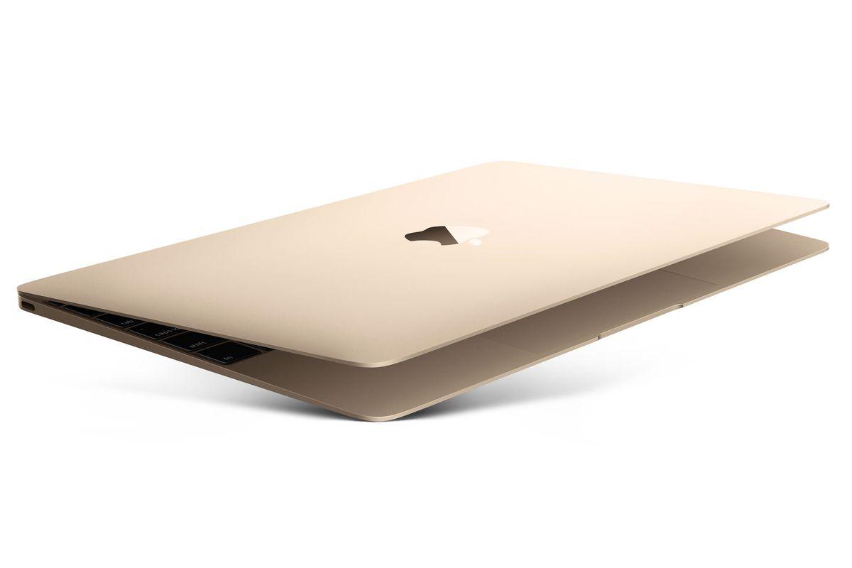 MacBook gold press photos