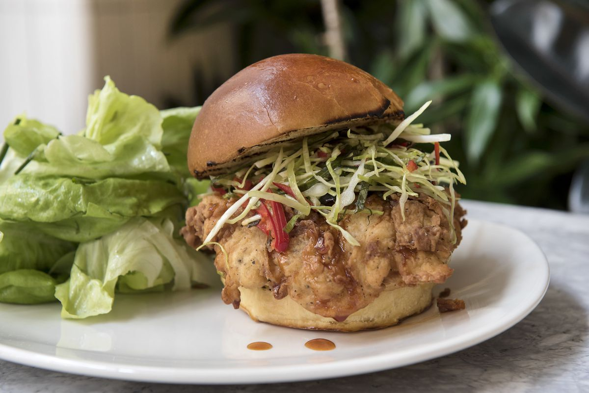 Tender Greens fried chicken sandwich