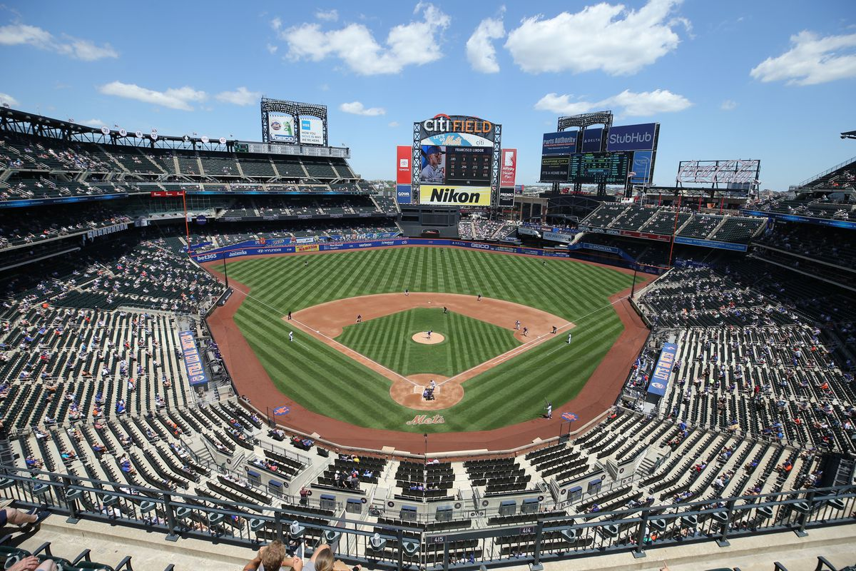 General view as New York Mets shortstop Francisco Lindor (12) bats against the Colorado Rockies during the first inning at Citi Field.
