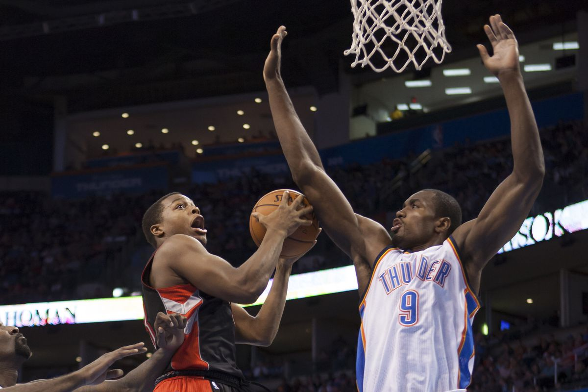 Serge's athleticism has improved so much, that he actually now blocks shots with his forearm....
