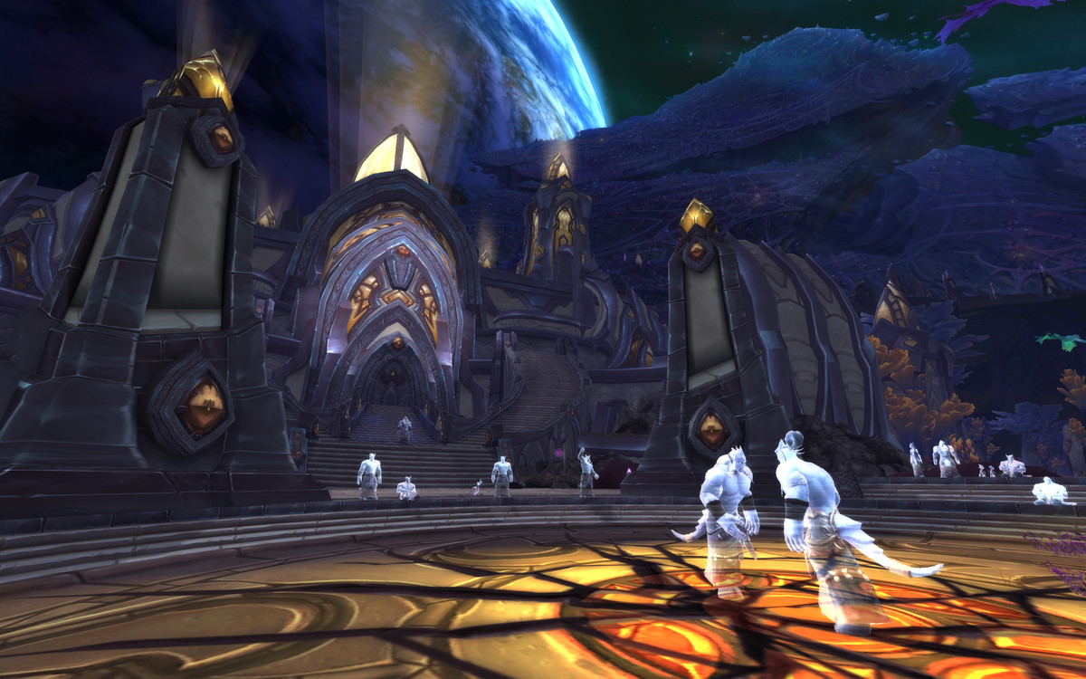 World of Warcraft - ghosts gather on Argus