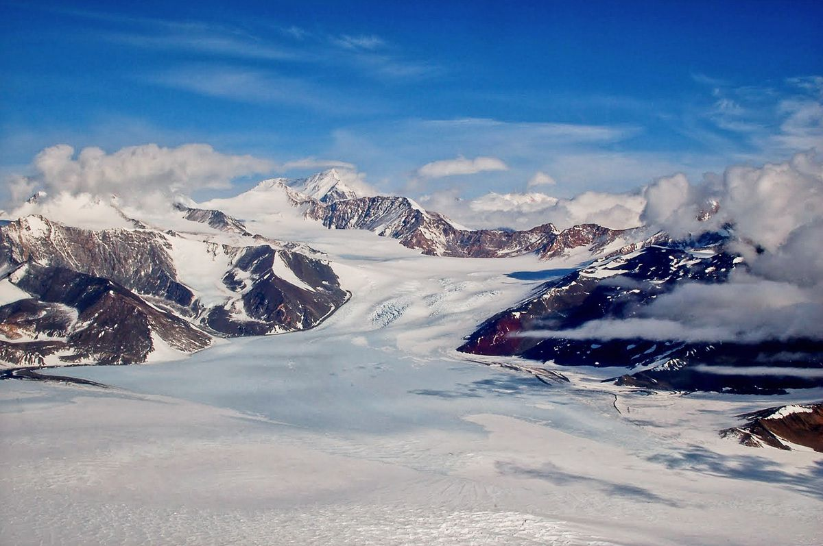 Renegar Glacier, Transantarctic Mountains, East Antarctica. Once considered inert, the East Antarctic Ice Sheet is now showing increasing signs of change