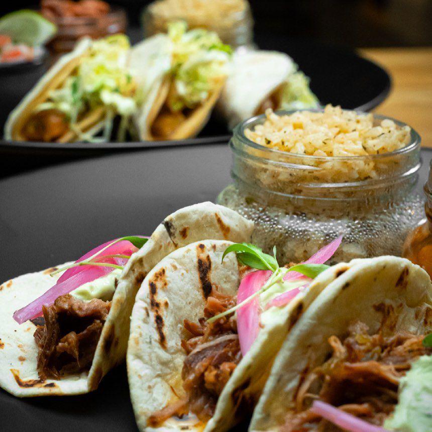 Three flour tacos