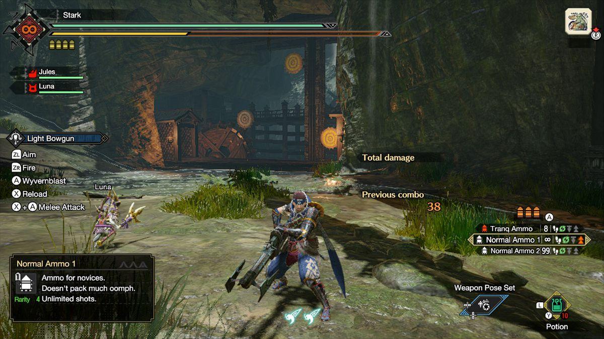The light bowgun from Monster Hunter Rise