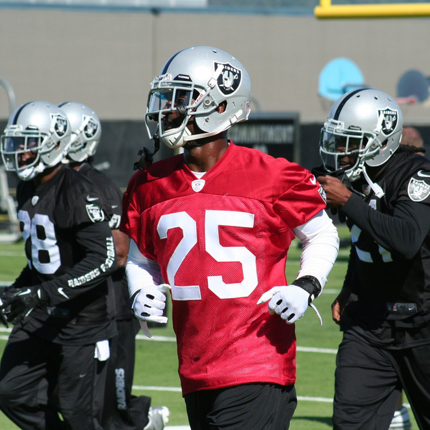 Red jersey just fine with DJ Hayden - Silver And Black Pride