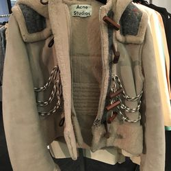 Acne shearling jacket, $1,279