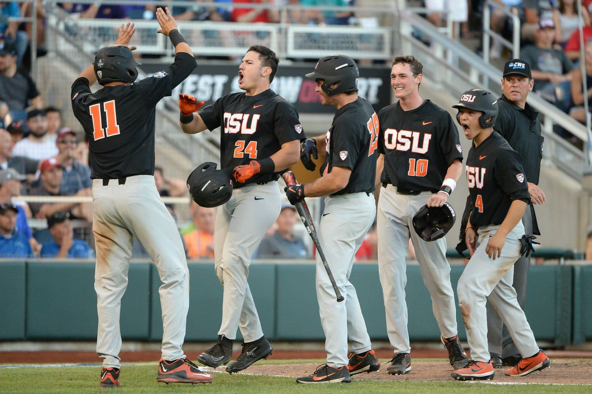 425535568 College World Series 2017 scores and bracket  Oregon State chases LSU out  of the park