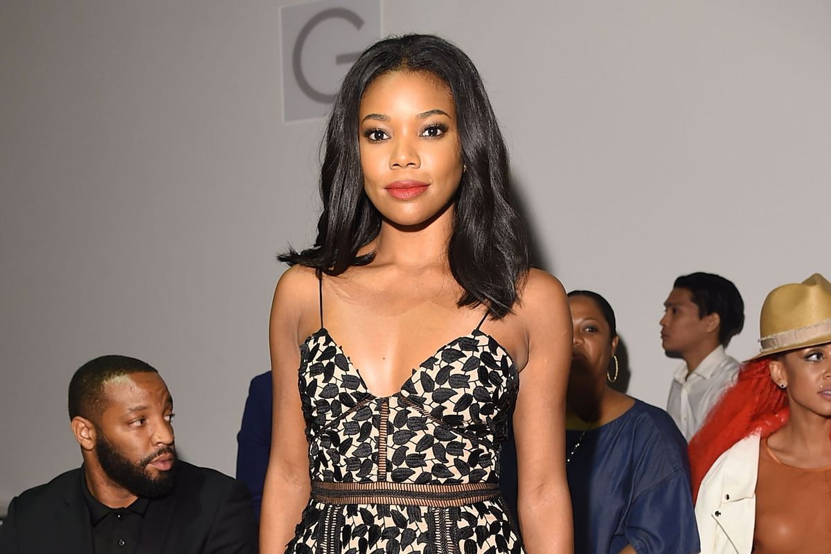 Actress Gabrielle Union attends the Todd Snyder fashion show.