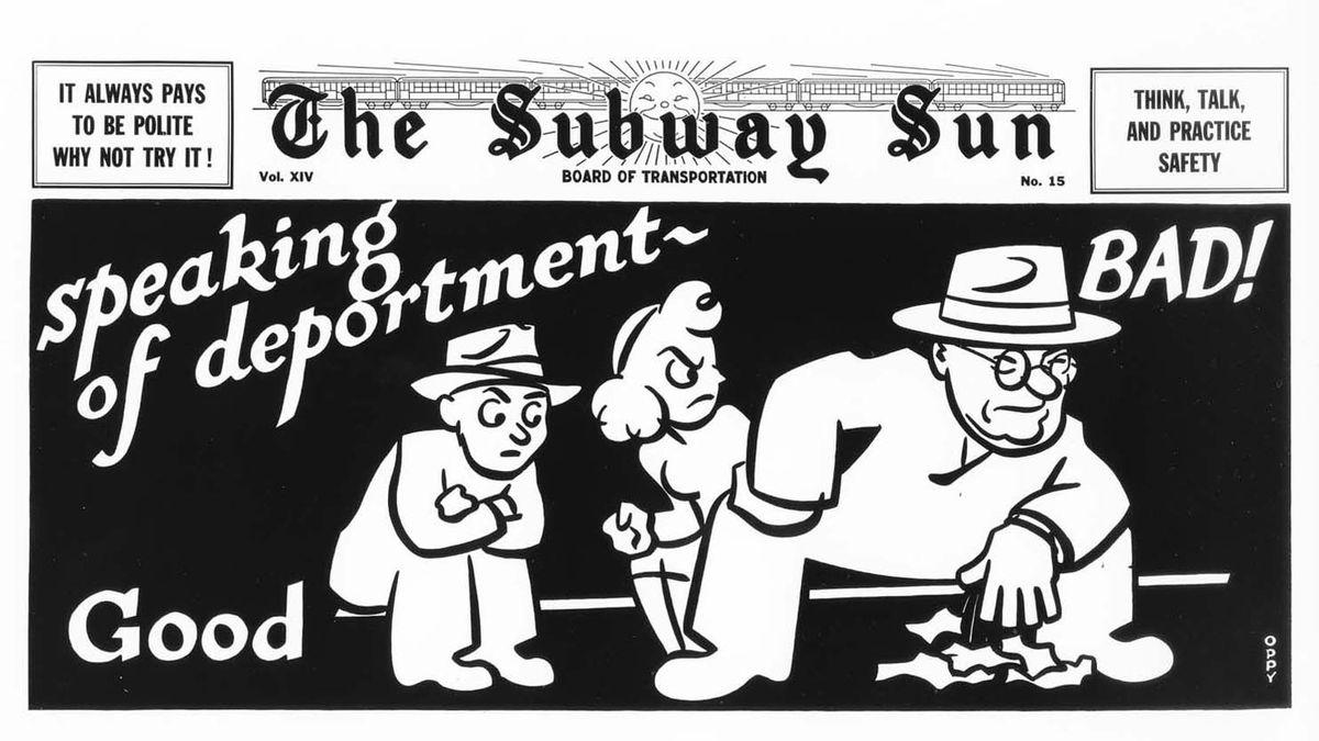 subway ad manspreading