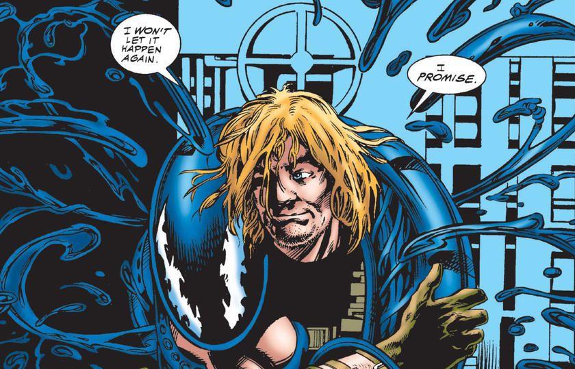 Eddie Brock and the Venom symbiote.