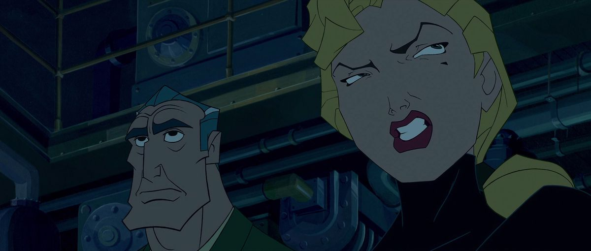 helga making a face with rourke right behind her