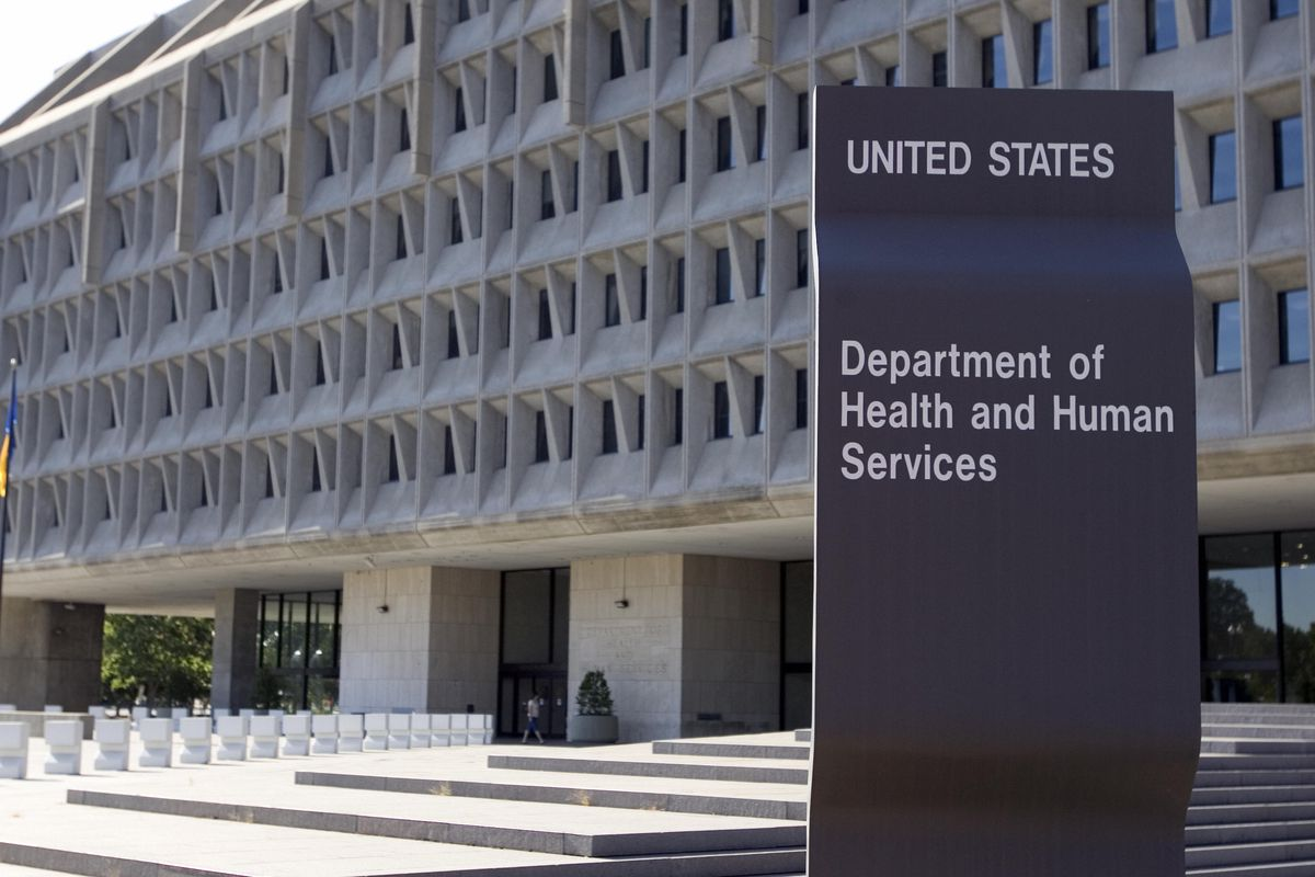 The US Department of Health and Human Services building exterior.