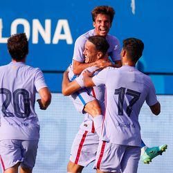 Rey Manaj celebrates another pre-season goal