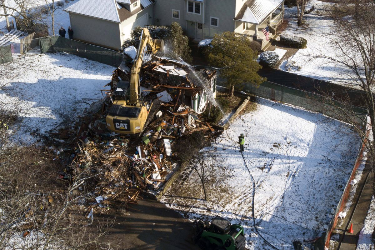 Nearly a year after 5-year old AJ Freund was killed by his parents, the Crystal Lake home where prosecutors allege that occurred is being demolished.