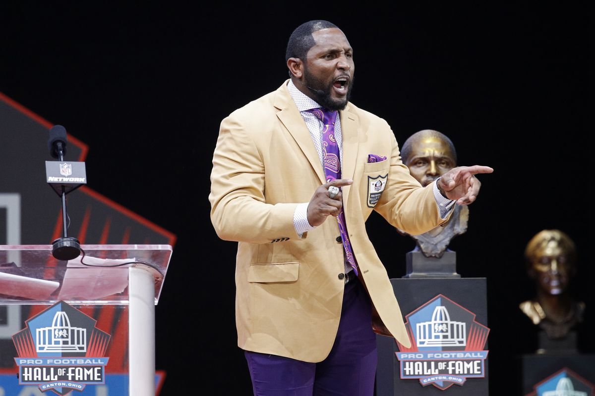 82129db27 Ray Lewis  Hall of Fame speech was long