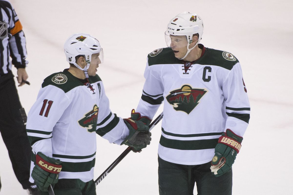 Captains Mikko Koivu and Zach Parise seem to will the Wild to victory these days.