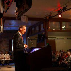 Thomas Keller closing the three-day conference