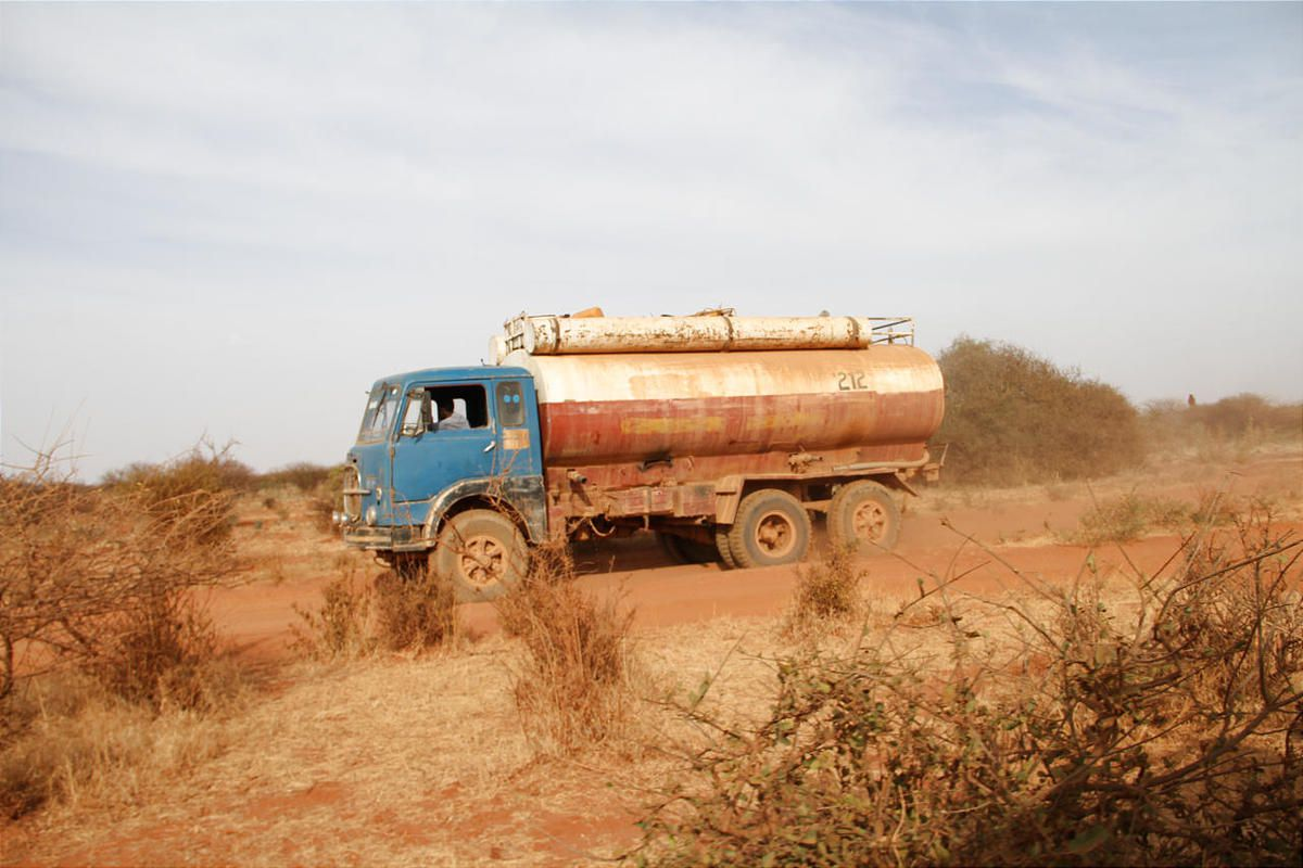 The LDS Church paid for the trucking of water to 22 villages, including this one, at the height of the three year drought, which ended last February.
