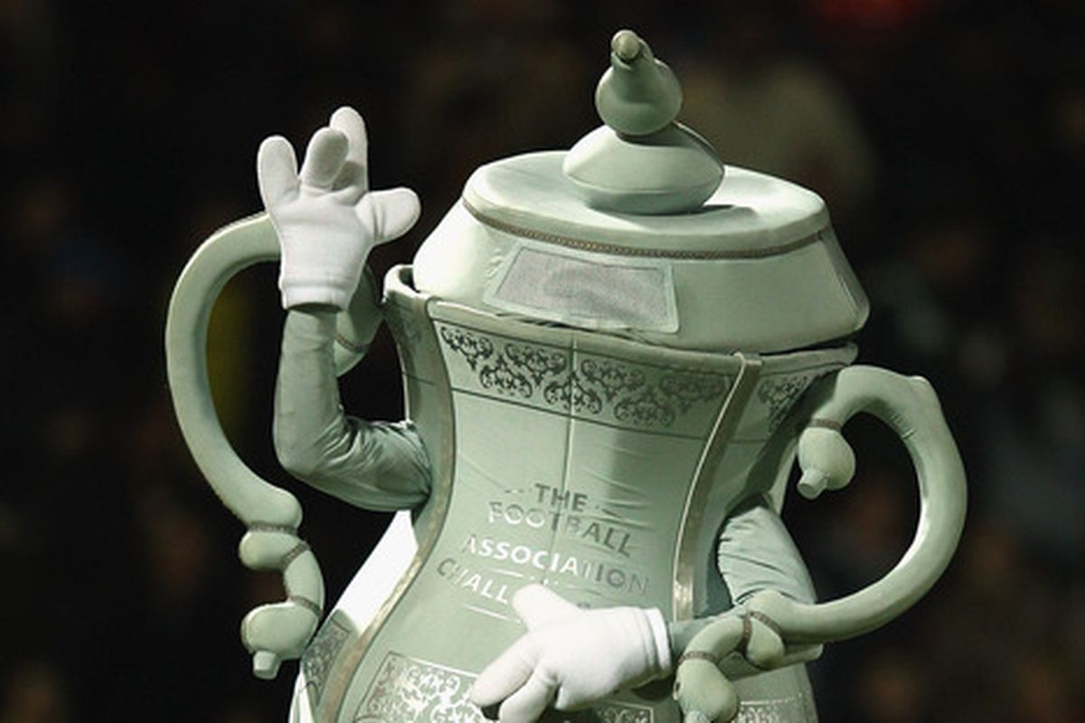 Who doesn't need more FA Cup Mascot Guy in their lives?