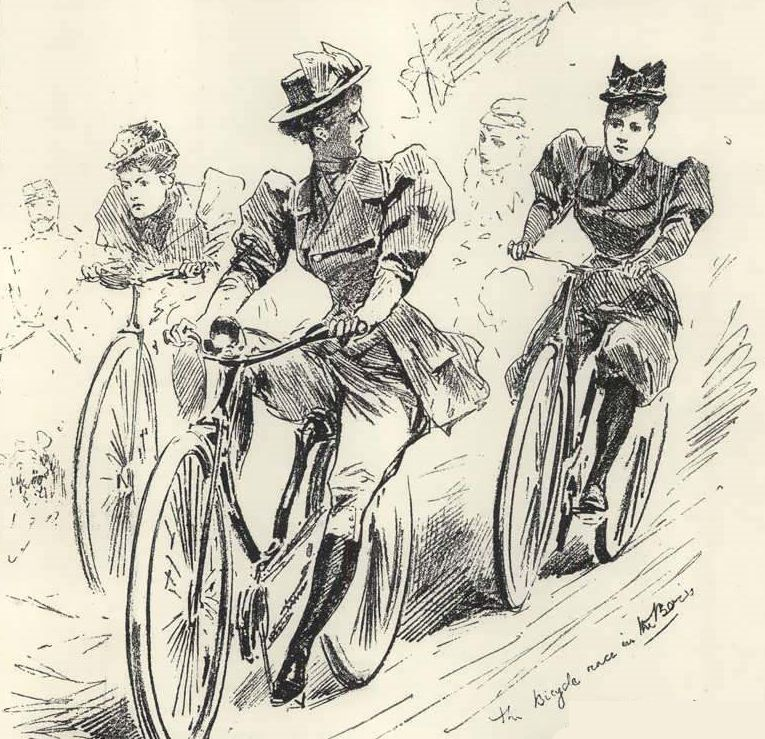 Another inventive take on the Course d'Artistes, this time from the pages of the British illustrated weekly 'The Sketch'