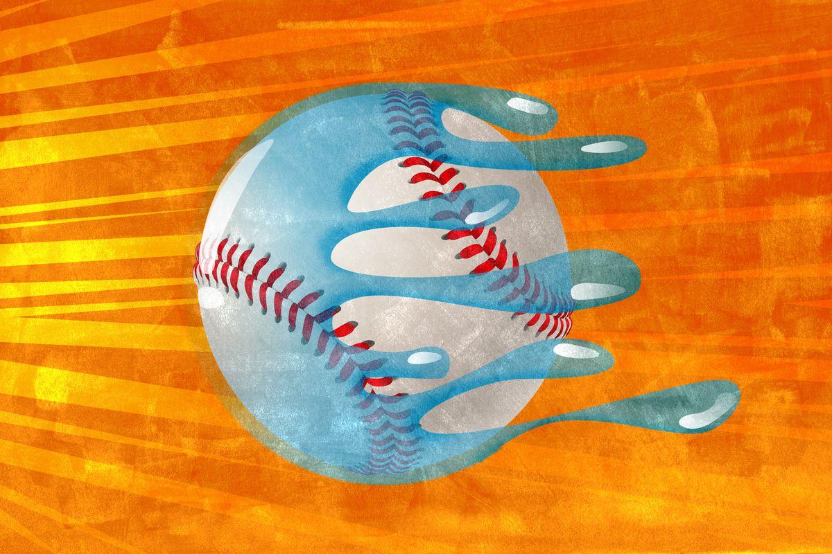 A slick baseball