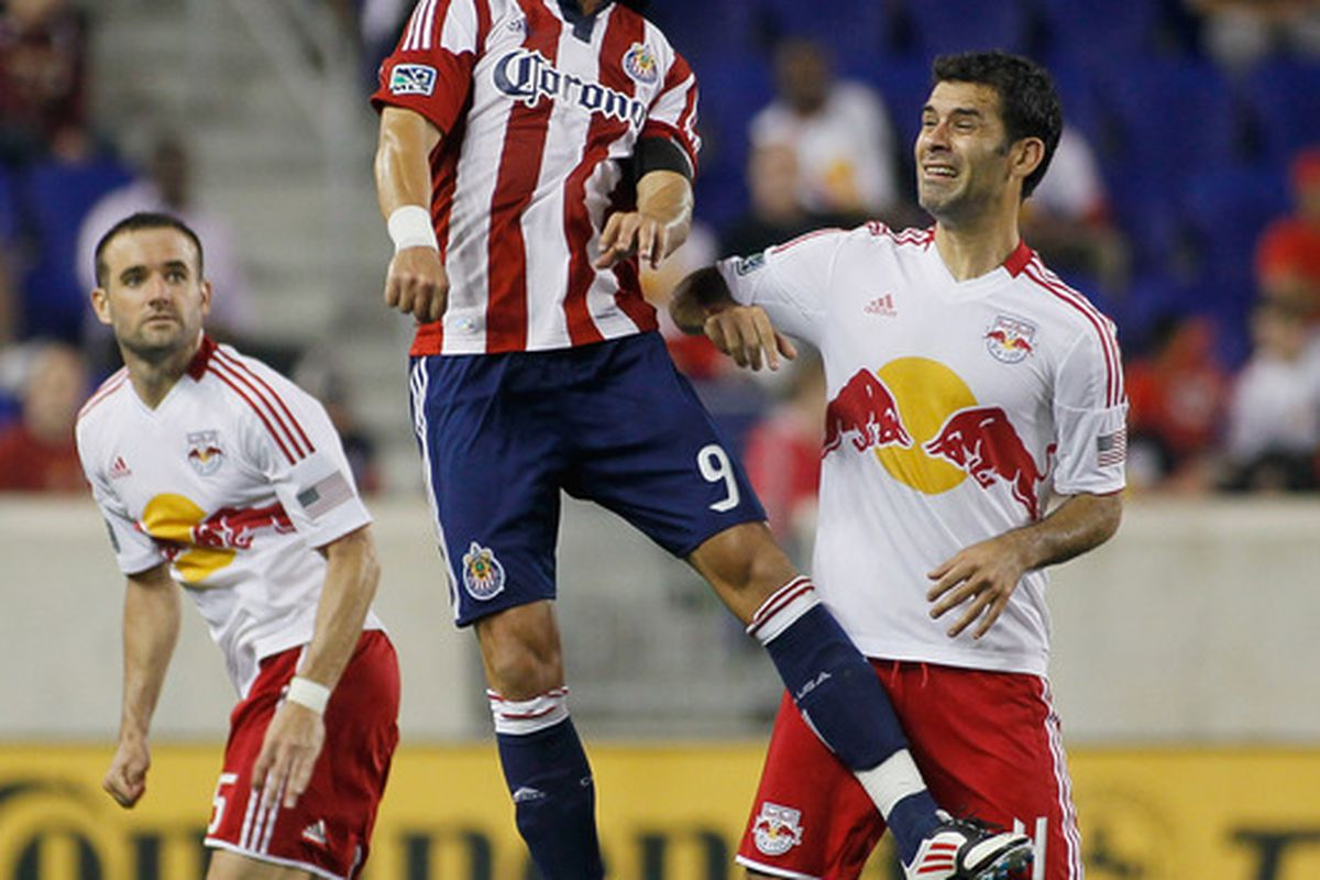 HARRISON, NJ - MAY 23:  Goats are rising. (Photo by Mike Stobe/Getty Images for New York Red Bulls)