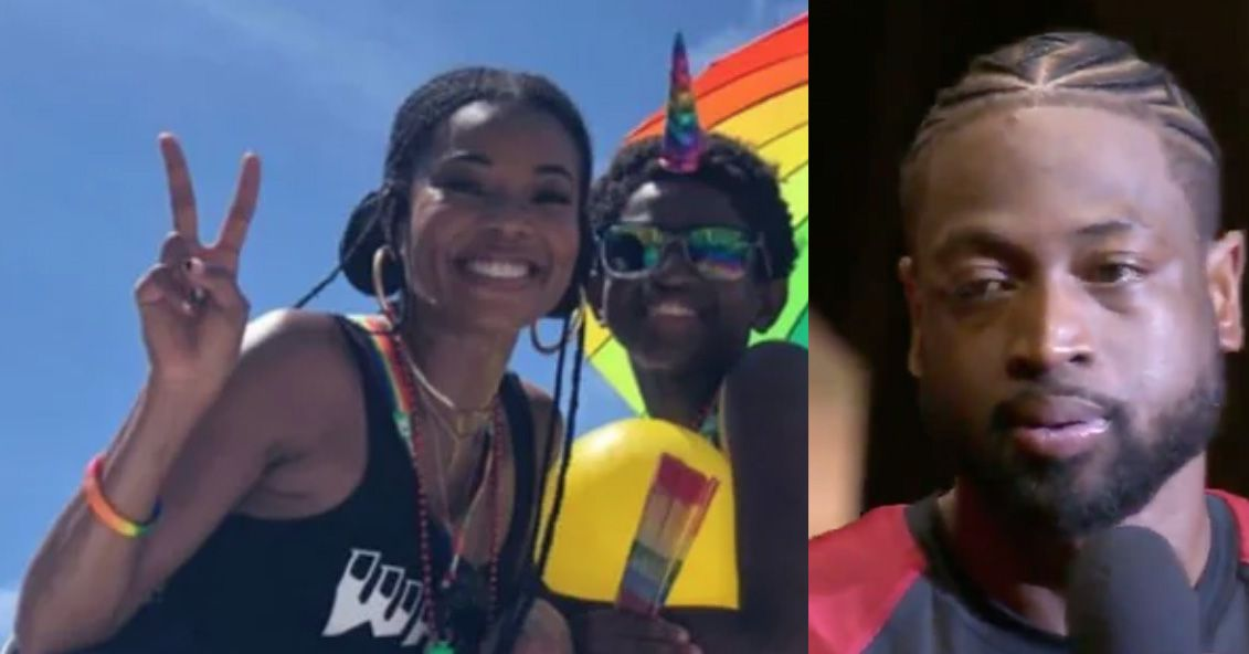 Dwyane Wade shows support for his son Zion at Miami Pride - Outsports