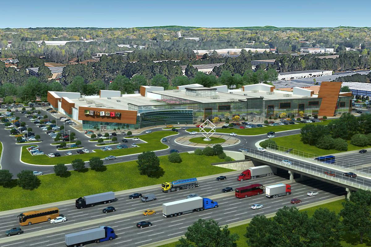 a rendering of the mall