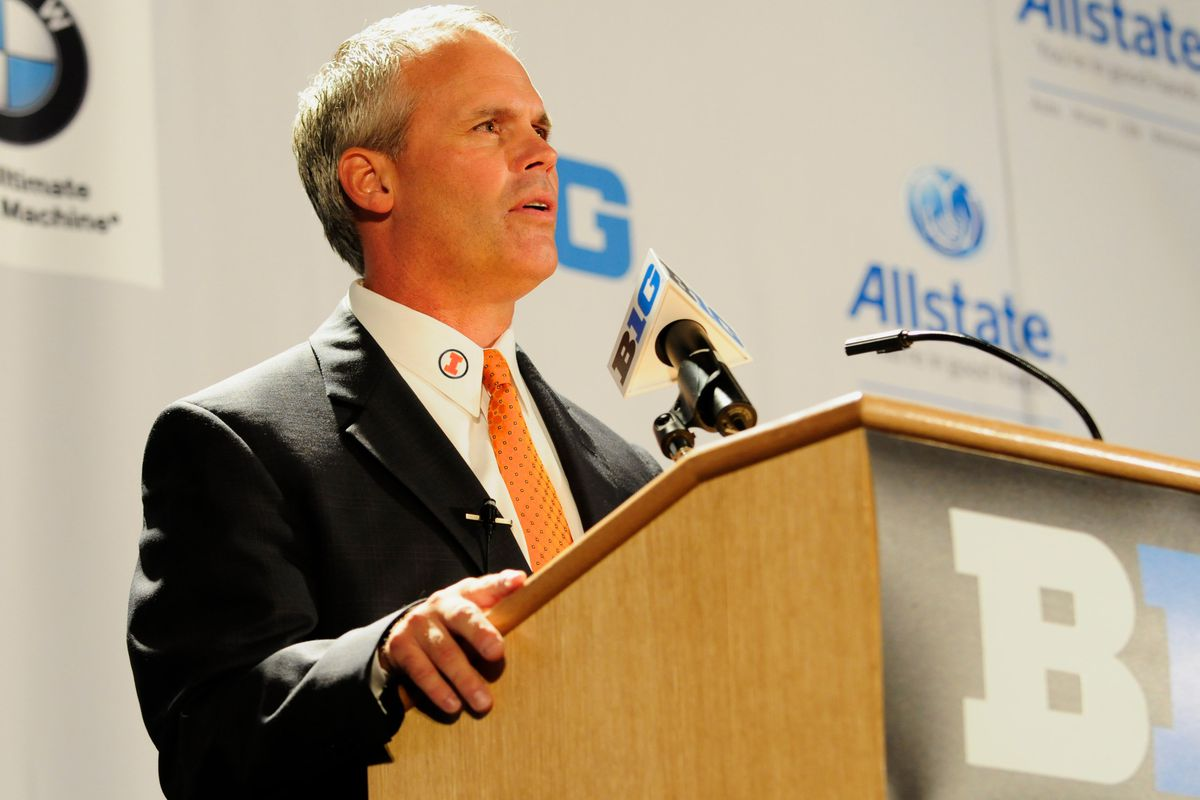 Tim Beckman at media days last year, before shit got real