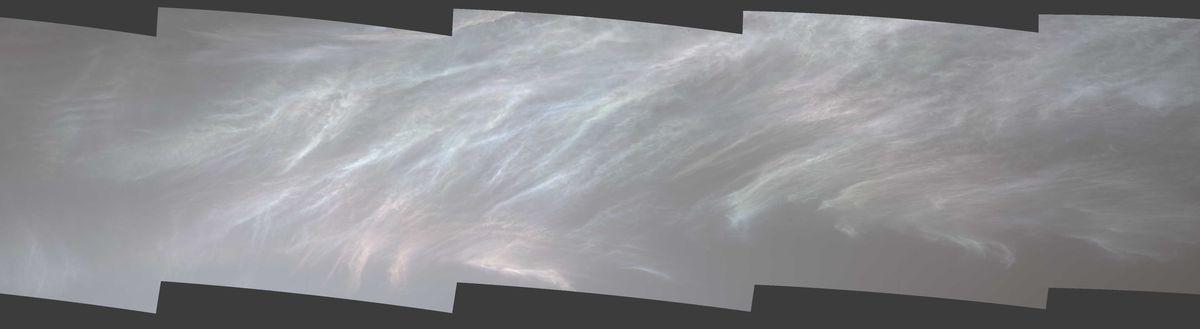 shiny mars clouds curiosity