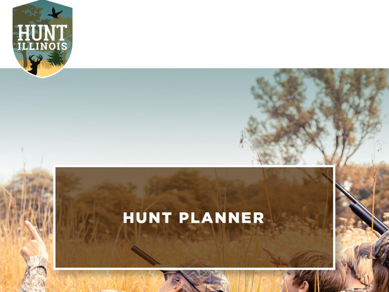 A screen shot of the new Hunt Illinois website. Credit: Dale Bowman