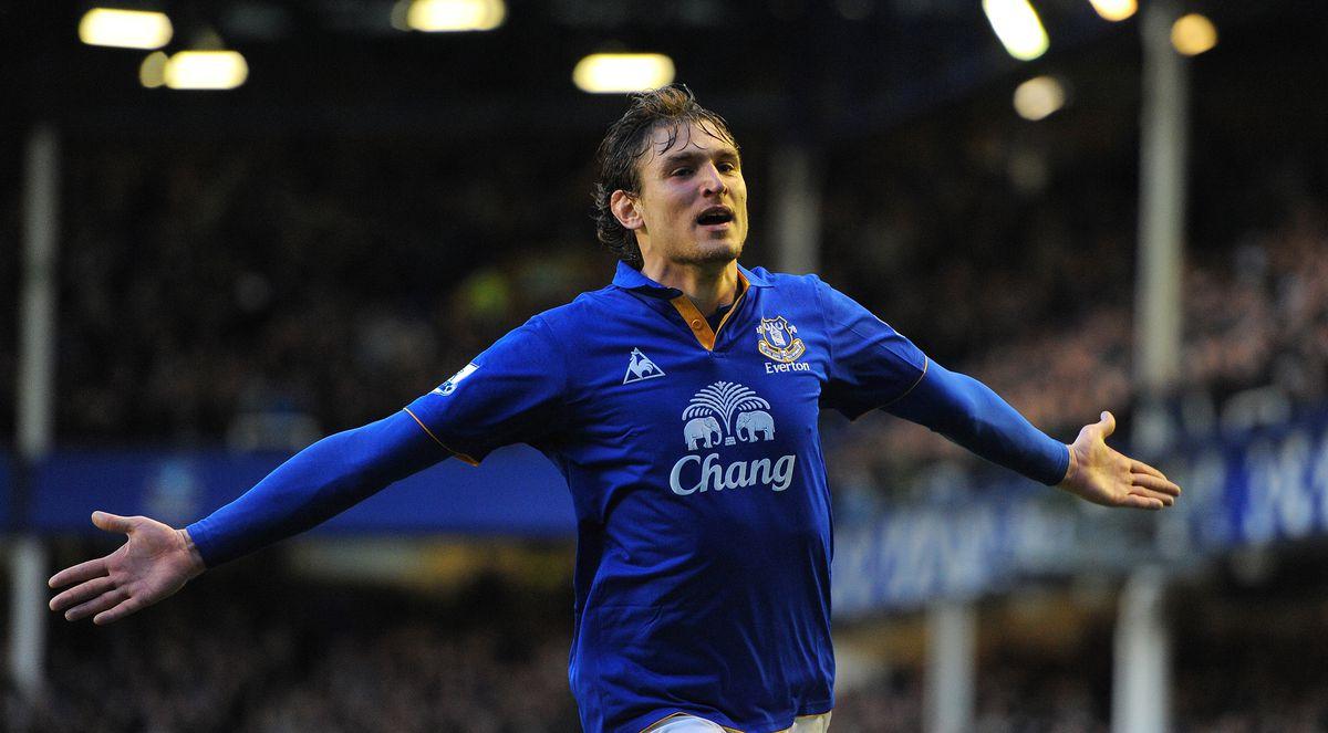 Everton's Croatian striker Nikica Jelavi